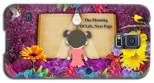 The Meaning Of Life Art Galaxy S5 Case