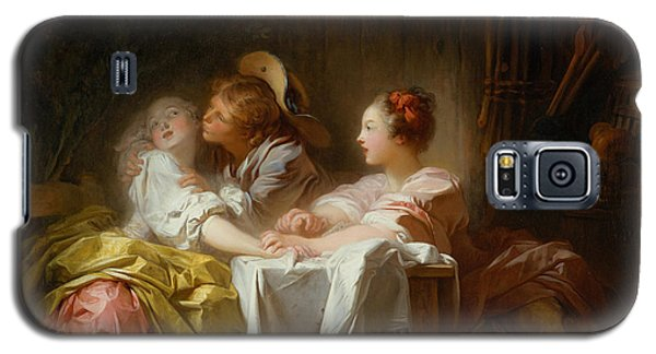 Galaxy S5 Case featuring the painting The Stolen Kiss by Jean-Honore Fragonard