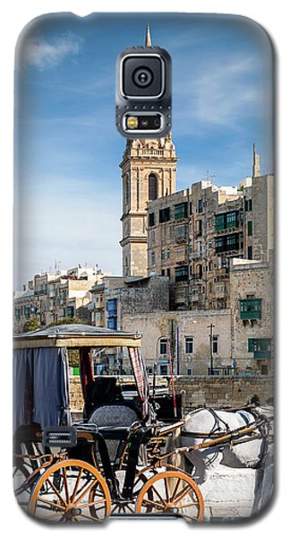 Tourist Horse Carriage In Old Town Street La Valletta Malta Galaxy S5 Case