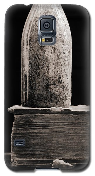 Galaxy S5 Case featuring the photograph Vintage Beer Bottle #00803 by Andrey  Godyaykin