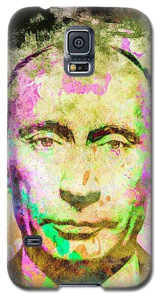 Galaxy S5 Case featuring the mixed media Vladimir Putin by Svelby Art