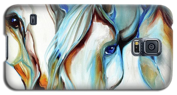 3 Wild Horses In Abstract Galaxy S5 Case