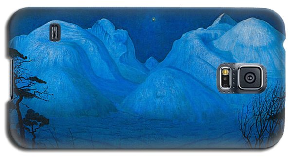 Winter Night In The Mountains Galaxy S5 Case