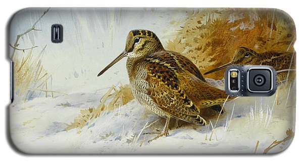 Winter Woodcock Galaxy S5 Case by Archibald Thorburn
