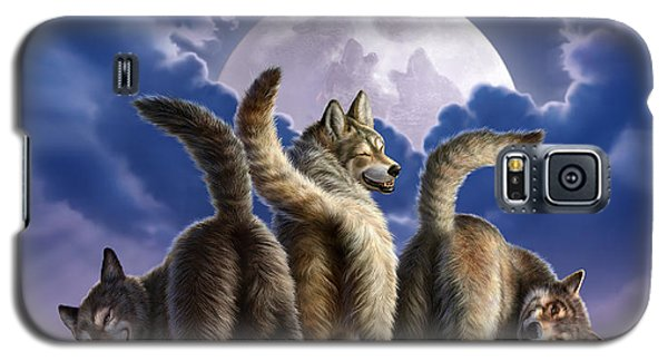 3 Wolves Mooning Galaxy S5 Case by Jerry LoFaro