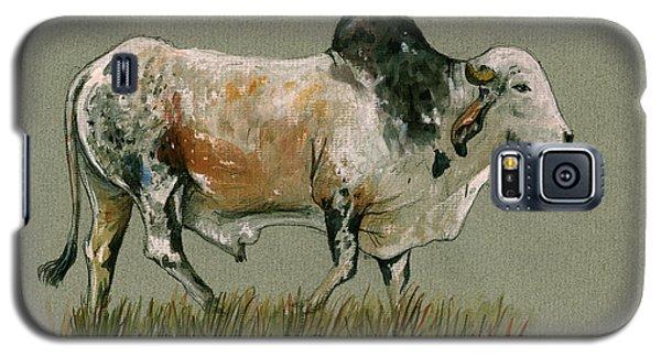 Zebu Cattle Art Painting Galaxy S5 Case by Juan  Bosco