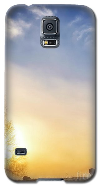 Galaxy S5 Case featuring the photograph Misty Mountain Sunrise by Thomas R Fletcher
