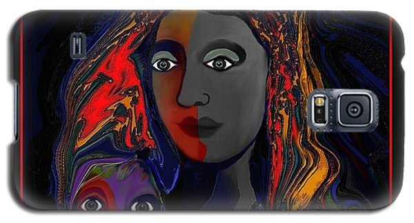 Galaxy S5 Case featuring the digital art 381- Child Keep Your Mouth Shut 2017 by Irmgard Schoendorf Welch
