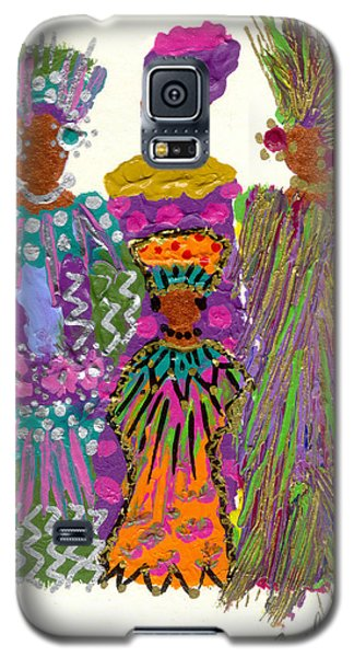 Galaxy S5 Case featuring the mixed media 3rd Generation - We Women Folk by Angela L Walker