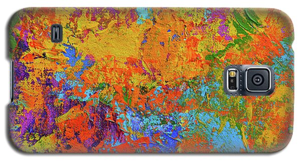 Abstract Painting Modern Art Contemporary Design Galaxy S5 Case