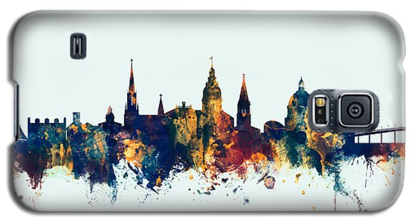 Galaxy S5 Case featuring the digital art Annapolis Maryland Skyline by Michael Tompsett