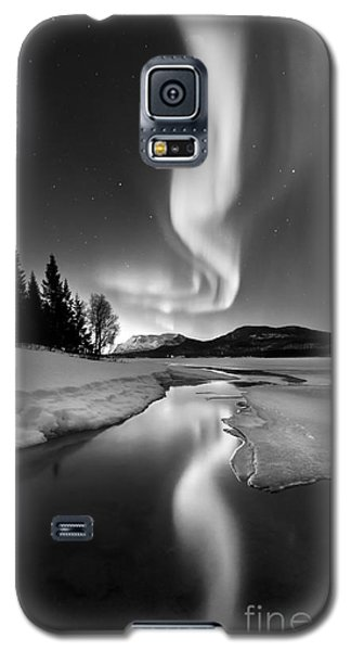 Aurora Borealis Over Sandvannet Lake Galaxy S5 Case