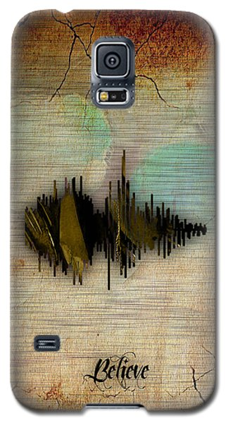 Believe Recorded Soundwave Collection Galaxy S5 Case by Marvin Blaine