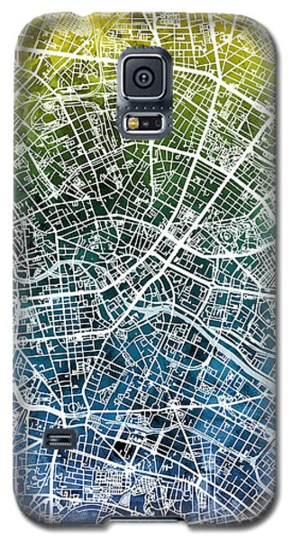 Berlin Galaxy S5 Case - Berlin Germany City Map by Michael Tompsett