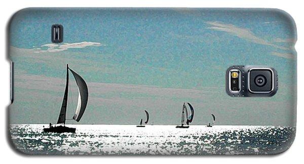 4 Boats On The Horizon Galaxy S5 Case