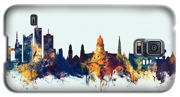 Galaxy S5 Case featuring the digital art Brussels Belgium Skyline by Michael Tompsett