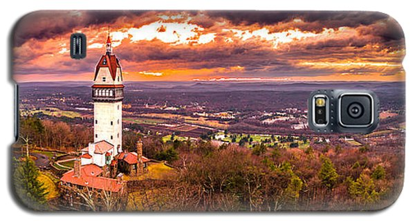 Galaxy S5 Case featuring the photograph Heublein Tower, Simsbury Connecticut, Cloudy Sunset by Petr Hejl