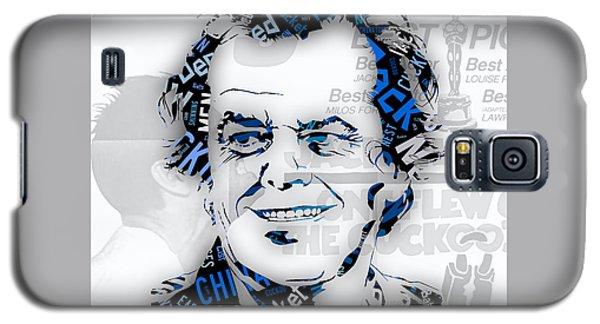 Jack Nicholson Movie Titles Galaxy S5 Case by Marvin Blaine