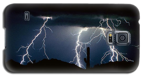 4 Lightning Bolts Fine Art Photography Print Galaxy S5 Case