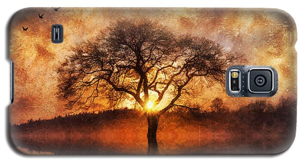 Galaxy S5 Case featuring the digital art Lone Tree by Ian Mitchell