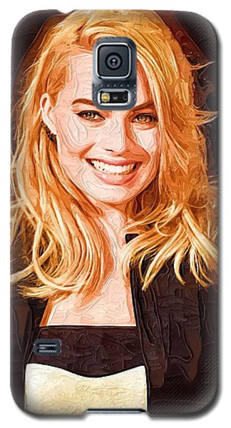 Margot Robbie Painting Galaxy S5 Case by Best Actors