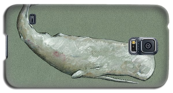 Whale Galaxy S5 Case - Moby Dick The White Sperm Whale  by Juan  Bosco