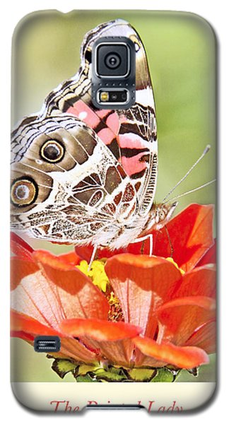 Painted Lady Butterfly On Zinnia Flower Galaxy S5 Case