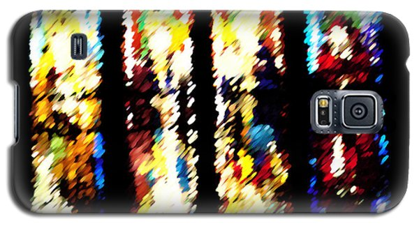 Galaxy S5 Case featuring the digital art 4 Panels Of Seville Abstract by Donna Corless