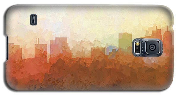 Galaxy S5 Case featuring the digital art Parsippany New Jersey Skyline by Marlene Watson