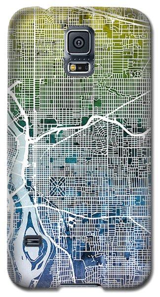 Galaxy S5 Case featuring the digital art Portland Oregon City Map by Michael Tompsett