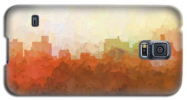 Galaxy S5 Case featuring the digital art Springfield Illinois Skyline by Marlene Watson