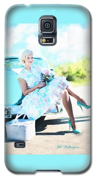 Vintage Val In The Turquoise Vintage Car Galaxy S5 Case