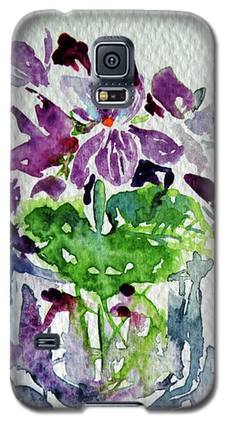 Galaxy S5 Case featuring the painting Violet by Kovacs Anna Brigitta