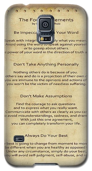 41- The Four Agreements Galaxy S5 Case by Joseph Keane