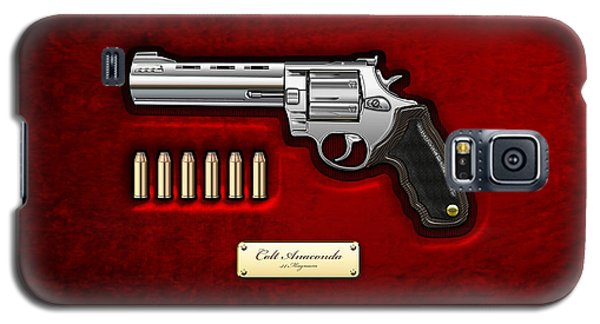 Patriotic Galaxy S5 Case - .44 Magnum Colt Anaconda On Red Velvet  by Serge Averbukh