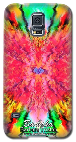 Galaxy S5 Case featuring the mixed media 444 Loves Vibration by Barbara Tristan