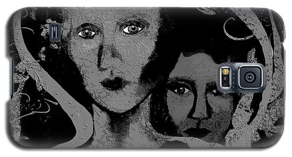 Galaxy S5 Case featuring the digital art 450 - Get Off My Back 2017 by Irmgard Schoendorf Welch