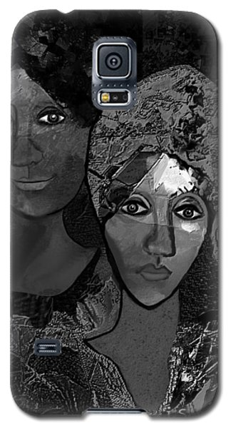 Galaxy S5 Case featuring the digital art 452 - Secrets Of Friendship by Irmgard Schoendorf Welch