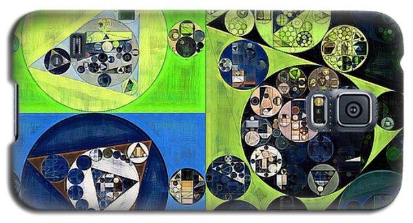 Galaxy S5 Case featuring the digital art Abstract Painting - Dark Jungle Green by Vitaliy Gladkiy
