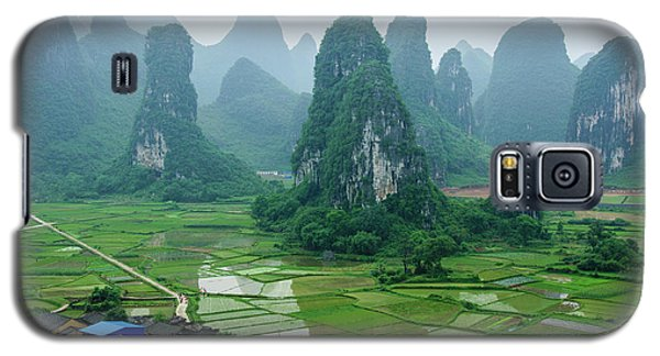 The Beautiful Karst Rural Scenery In Spring Galaxy S5 Case