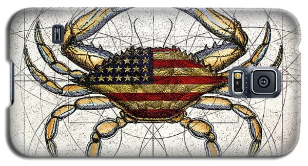 4th Of July Crab Galaxy S5 Case by Charles Harden