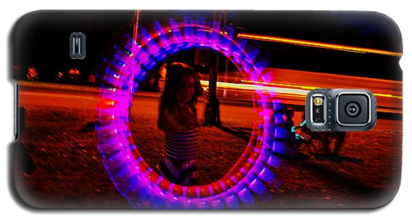 Galaxy S5 Case featuring the photograph 4th Of July - Glow Sticks On A String by George Bostian