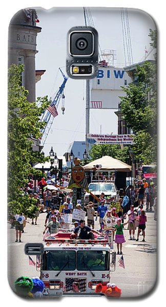 Galaxy S5 Case featuring the photograph 4th Of July Parade, Front Street, Bath, Maine #40142 by John Bald