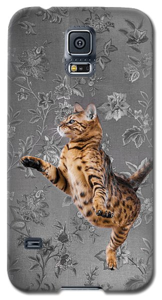 Bengal Cat Jumping Galaxy S5 Case