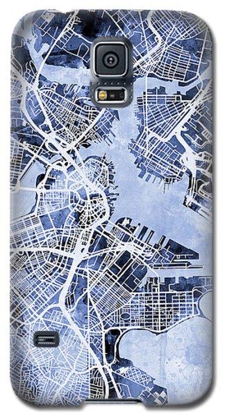 Boston Massachusetts Street Map Galaxy S5 Case by Michael Tompsett
