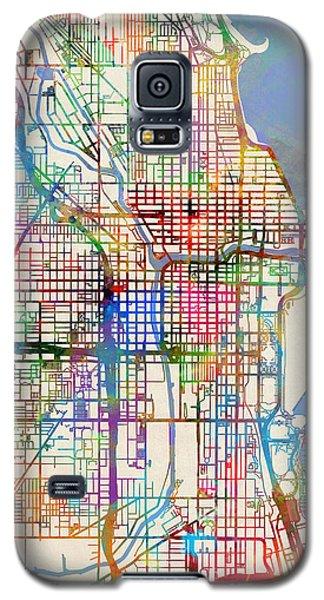 University Of Illinois Galaxy S5 Case - Chicago City Street Map by Michael Tompsett