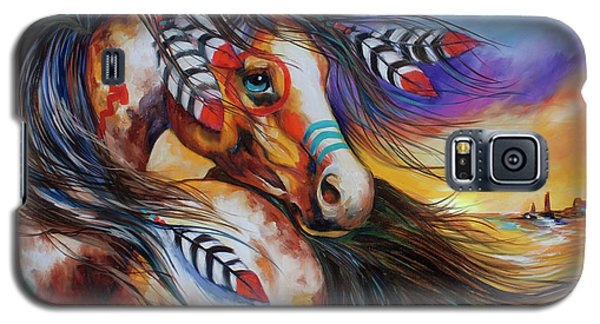 5 Feathers Indian War Horse Galaxy S5 Case