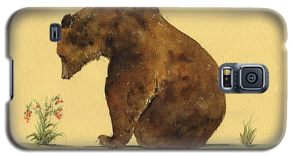 Grizzly Bear Watercolor Painting Galaxy S5 Case