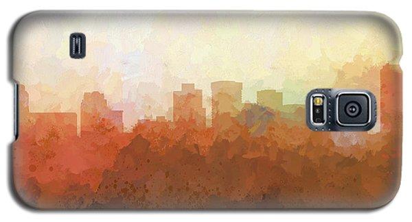 Galaxy S5 Case featuring the digital art Norfolk Virginia Skyline by Marlene Watson