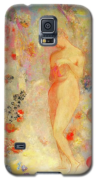 Galaxy S5 Case featuring the painting Pandora by Odilon Redon